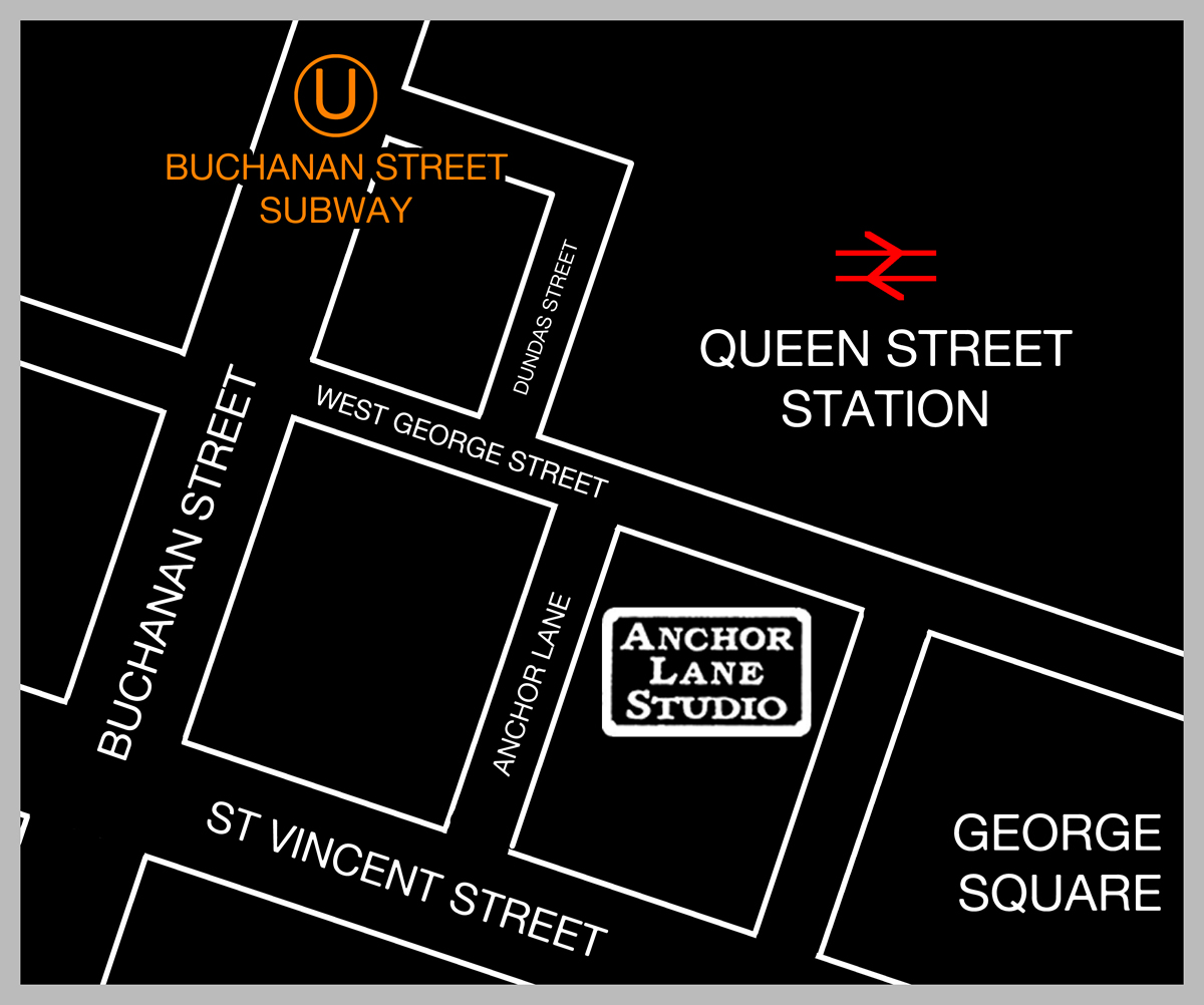 Anchor Lane Studio Map